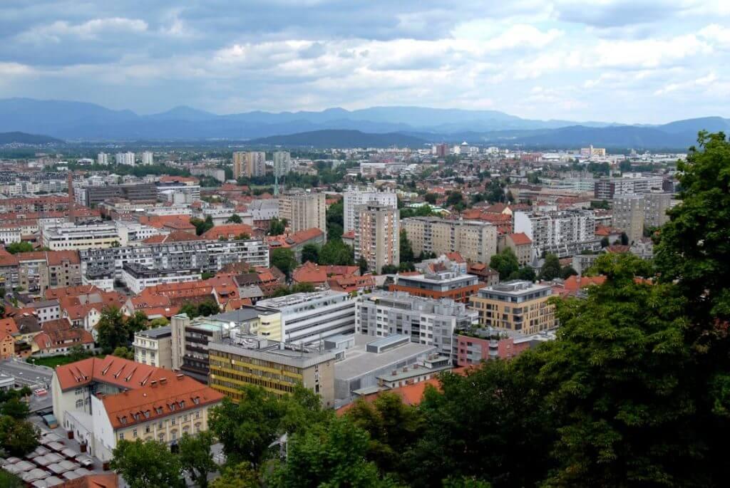 Ljubljana Kalesinden manzara